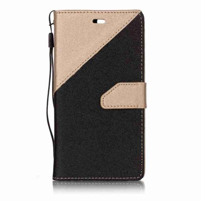 Buy BLACK AND GOLDEN Stitching Style Golden Beach Pu Phone Case for Huawei P10 for $5.62 in GearBest store