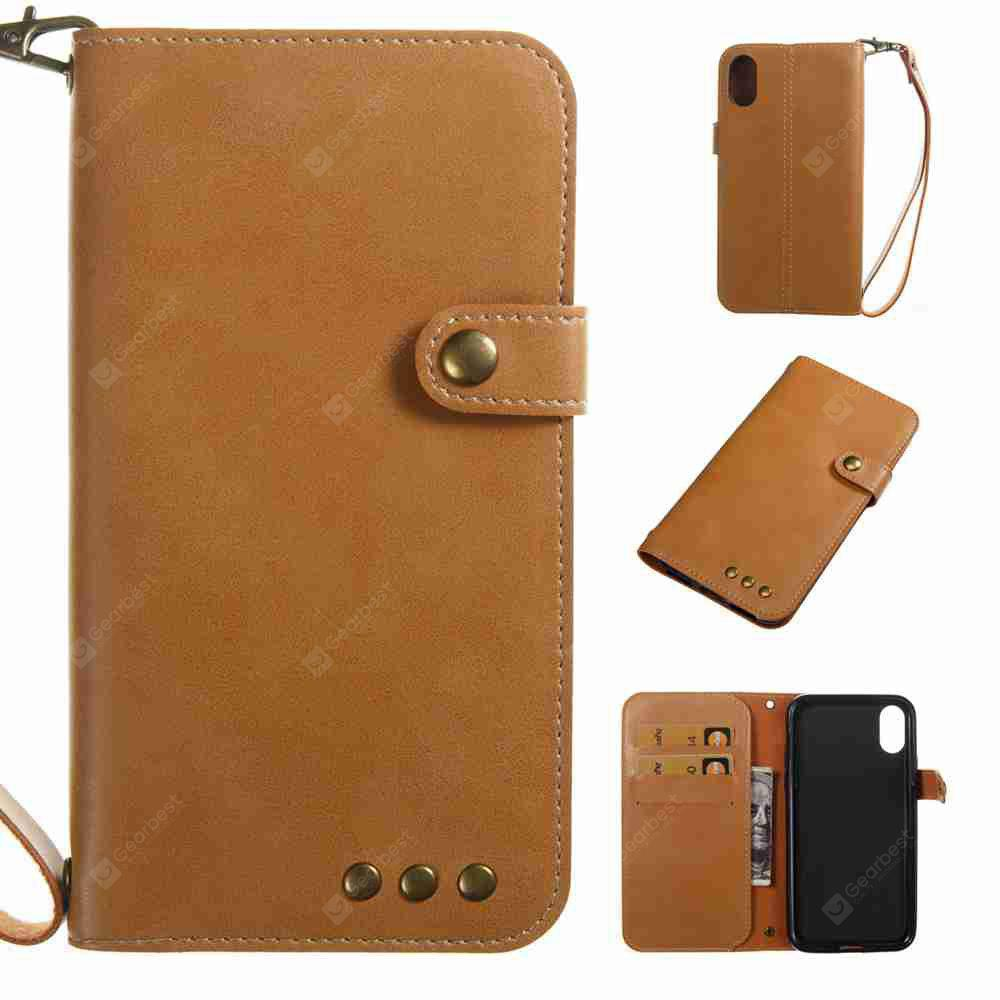 Crazy Horse Pattern Retro Leather Phone Case for Iphone X