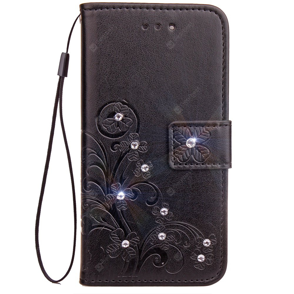Yc Lucky Clover Stick Drill Card Lanyard Pu Leather for Samsung S8 Plus
