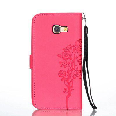 Wkae Double Side Embossing Rose Flower Synthetic Leather Wallet Case Soft Silicone Back Cover with Flip Kickstand And Lanyard for Samsung Galaxy A5 2017Samsung A Series<br>Wkae Double Side Embossing Rose Flower Synthetic Leather Wallet Case Soft Silicone Back Cover with Flip Kickstand And Lanyard for Samsung Galaxy A5 2017<br><br>Features: Full Body Cases, Cases with Stand, With Credit Card Holder, Anti-knock, Dirt-resistant<br>For: Samsung Mobile Phone<br>Material: TPU, PU Leather<br>Package Contents: 1 x Phone Case<br>Package size (L x W x H): 20.00 x 15.00 x 2.00 cm / 7.87 x 5.91 x 0.79 inches<br>Package weight: 0.1000 kg<br>Style: Special Design