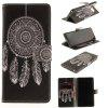 Card Holder Wallet with Stand Flip Pattern Full Body Case Cover Wind Chime Pu+Tpu Leather for Samsung Galaxy Note 8 - BLACK
