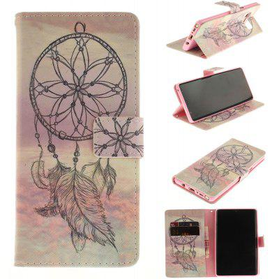 Card Holder Wallet with Stand Flip Magnetic Aeolian Bells Pattern Full Body Case Cover Pu+Tpu Leather for Samsung Galaxy Note 8