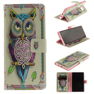 Card Holder Wallet with Stand Flip Magnetic Pattern Full Body Case Cover Owl Hard Pu+Tpu Leather for Samsung Galaxy Note 8