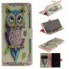 Card Holder Wallet with Stand Flip Magnetic Pattern Full Body Case Cover Owl Hard Pu+Tpu Leather for Samsung Galaxy Note 8 - BLACK