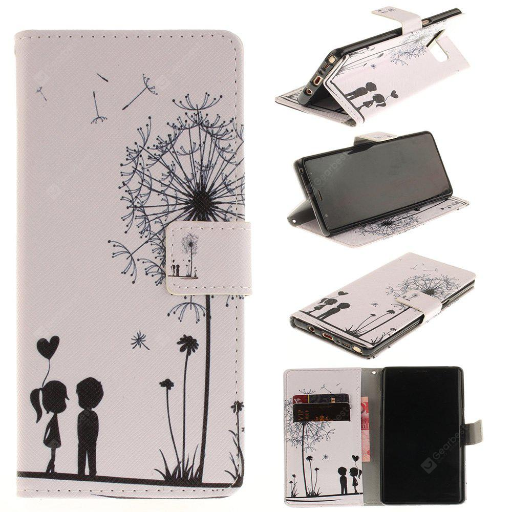 Card Holder Wallet with Stand Flip Magnetic Pattern Full Body Case Cover Dandelion And Lovers Pu+Tpu Leather for Samsung Galaxy Note 8