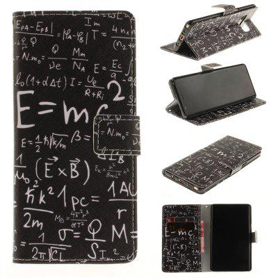 Card Holder Wallet with Stand Flip Magnetic Pattern Full Body Case Cover Mathematical Symbol Pu+Tpu Leather for Samsung Galaxy Note 8