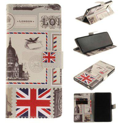 Card Holder Wallet with Stand Flip Magnetic Pattern Full Body Case Cover Uk Flag Pu+Tpu Leather for Samsung Galaxy Note 8