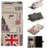 Card Holder Wallet with Stand Flip Magnetic Pattern Full Body Case Cover Uk Flag Pu+Tpu Leather for Samsung Galaxy Note 8 - BLACK