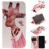 Giraffe Pattern Pu+Tpu Leather Wallet Case with Card Holder/Magnetic Closure Flip Cover for Iphone x - PINK