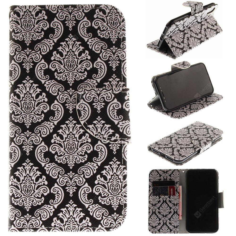 Totem Pu+Tpu Leather Wallet Case with Card Holder/Magnetic Closure Flip Cover for Iphone x