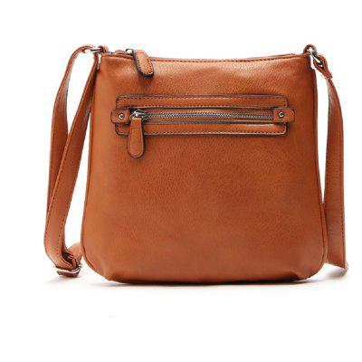 Buy BROWN 1PC Auhwone 2017 Women Messenger Bags Pu Leather Brown Crossbody Bags Ladies Vintage Fashion Shoulder Bag Bolsas Small Flap Bags for $24.00 in GearBest store
