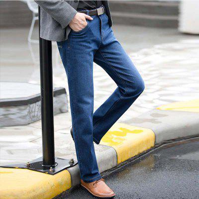 Straight Denim Mens Jeans Blue Zipper FlyMens Pants<br>Straight Denim Mens Jeans Blue Zipper Fly<br><br>Closure Type: Zipper Fly<br>Color: Blue<br>Fabric Type: Broadcloth<br>Fit Type: Loose<br>Material: 70.7% Cotton 28.4% Polyester  0.9% Spandex, Cotton, Polyester, Spandex<br>Package Contents: 1 x Jeans<br>Pant Length: Long Pants<br>Pant Style: Straight<br>Season: Spring Summer Autumn Winter<br>Size: 29 30 31 32 33 34 36 38 40<br>Style: Blue Long Jeans<br>Waist Type: Mid<br>Wash: Light<br>Weight: 0.6000kg