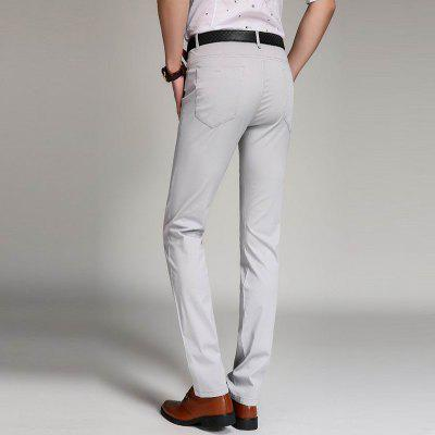 Baiyuan Trousers Business Casual Slim Fit Mens Suit PantsMens Pants<br>Baiyuan Trousers Business Casual Slim Fit Mens Suit Pants<br><br>Closure Type: Zipper Fly<br>Color: White<br>Elasticity: Micro-elastic<br>Embellishment: Button,Pockets,Rivet,Zippers<br>Fabric Type: Broadcloth<br>Fit Type: Straight<br>Front Style: Pleated<br>Length: Normal<br>Material: Cotton, Spandex<br>Package Contents: 1 x Pants<br>Package size (L x W x H): 30.00 x 20.00 x 5.00 cm / 11.81 x 7.87 x 1.97 inches<br>Package weight: 0.4000 kg<br>Pant Style: Straight<br>Pattern Type: Solid<br>Style: Formal<br>Thickness: Thin<br>Waist Type: Mid<br>With Belt: Yes