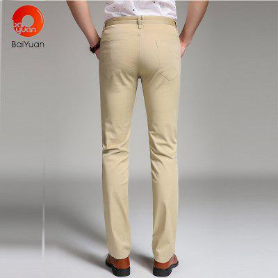 Baiyuan Trousers Business Casual Slim Fit Mens Suit Pants KhakiMens Pants<br>Baiyuan Trousers Business Casual Slim Fit Mens Suit Pants Khaki<br><br>Closure Type: Zipper Fly<br>Color: Khaki<br>Elasticity: Micro-elastic<br>Embellishment: Button,Pockets,Zippers<br>Fabric Type: Broadcloth<br>Fit Type: Skinny<br>Front Style: Pleated<br>Length: Normal<br>Material: Cotton, Spandex<br>Package Contents: 1 x Suit Pant<br>Package size (L x W x H): 30.00 x 20.00 x 5.00 cm / 11.81 x 7.87 x 1.97 inches<br>Package weight: 0.4000 kg<br>Pant Style: Straight<br>Pattern Type: Solid<br>Style: Fashion<br>Thickness: Thin<br>Waist Type: Mid<br>With Belt: No