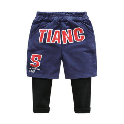 Buy CORNFLOWER 120 Childrens Casual Pants Childrens Sports Pants Baby Haren Pants Boys Pants Fake Two Autumn 2017 New Style for $25.33 in GearBest store