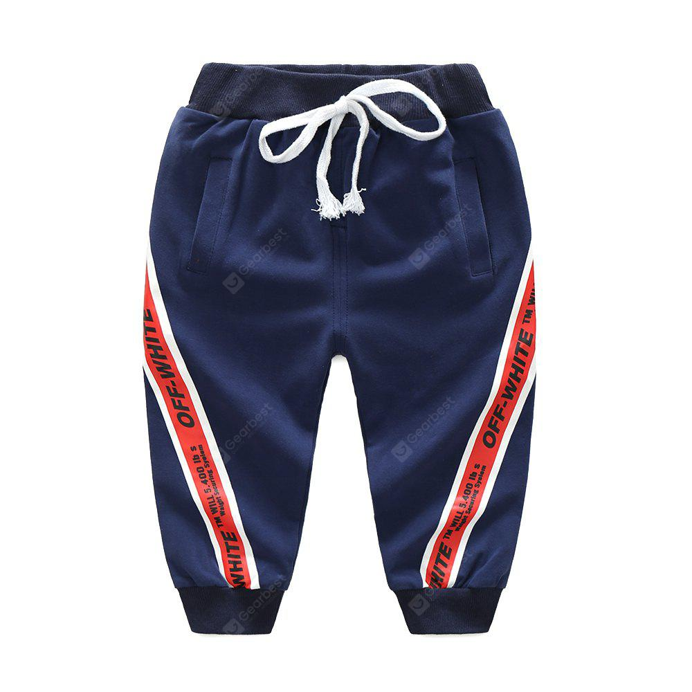 CADETBLUE 90 2017 New Spring And Autumn Boys Sports Pants Baby Korean Version Slim Pants Childrens Fashion Childrens Trousers Tide