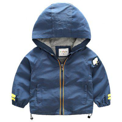 2017 Spring And Autumn New Boy Windbreaker Coat Cotton Baby Hooded Coat Small Children Korean Version Windproof Clothing