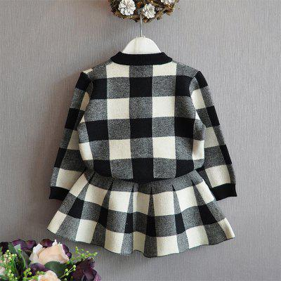 Plaid Button-Up Jacket and Plaid SkirtGirls Clothing<br>Plaid Button-Up Jacket and Plaid Skirt<br><br>Dresses Length: Knee-Length<br>Elasticity: Elastic<br>Embellishment: Tassel<br>Material: Cotton<br>Neckline: Round Collar<br>Package Contents: 1xJacket 1xSkirt<br>Pattern Type: Plaid<br>Season: Fall<br>Silhouette: Sheath<br>Sleeve Length: Long Sleeves<br>Style: Fresh Style<br>Weight: 0.5000kg<br>With Belt: No