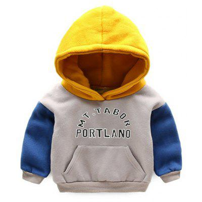 Children with Cashmere Sweater And 2017 New Korean Boy Baby Thickened Hooded Jacket