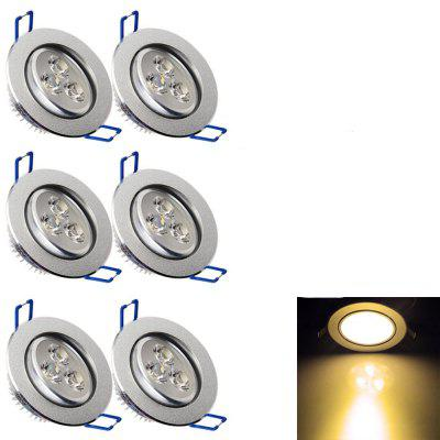 YouOKLight YK4416 3W 240Lm LED Downlight Ceiling Lamp AC 85 - 265V 6PCS