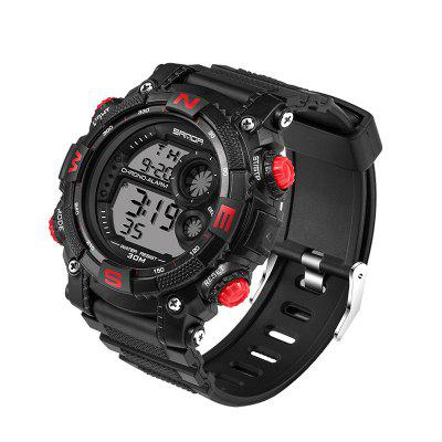 Sanda 323 5304 Sports Multifunctional Watch for MenMens Watches<br>Sanda 323 5304 Sports Multifunctional Watch for Men<br><br>Band material: Silicone<br>Band size: 25 x 2.2cm<br>Brand: Sanda<br>Case material: Silicone<br>Clasp type: Pin buckle<br>Dial size: 5.3 x 5.3 x 1.55cm<br>Display type: Digital<br>Movement type: Digital watch<br>Package Contents: 1 x Watch, 1 x Watch Box<br>Package size (L x W x H): 28.00 x 8.00 x 3.50 cm / 11.02 x 3.15 x 1.38 inches<br>Package weight: 0.0850 kg<br>Product size (L x W x H): 25.00 x 5.30 x 1.55 cm / 9.84 x 2.09 x 0.61 inches<br>Product weight: 0.0550 kg<br>Shape of the dial: Round<br>Watch mirror: Acrylic<br>Watch style: Fashion, Outdoor Sports, Casual<br>Watches categories: Men<br>Water resistance: 30 meters