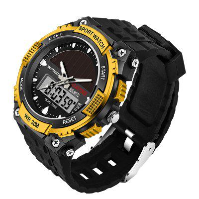 Sanda 719 5313 Multifunctional Outdoor Sports Male WatchMens Watches<br>Sanda 719 5313 Multifunctional Outdoor Sports Male Watch<br><br>Band material: Plastic<br>Band size: 25 x 2.5cm<br>Brand: Sanda<br>Case material: Plastic<br>Clasp type: Pin buckle<br>Dial size: 5 x 5 x 1.3cm<br>Display type: Analog-Digital<br>Movement type: Quartz + digital watch<br>Package Contents: 1 x Watch, 1 x Watch Box<br>Package size (L x W x H): 28.00 x 8.00 x 3.50 cm / 11.02 x 3.15 x 1.38 inches<br>Package weight: 0.0800 kg<br>Product size (L x W x H): 25.00 x 5.00 x 1.30 cm / 9.84 x 1.97 x 0.51 inches<br>Product weight: 0.0500 kg<br>Shape of the dial: Round<br>Watch mirror: Acrylic<br>Watch style: Fashion, Trends in outdoor sports, Casual<br>Watches categories: Men<br>Water resistance: 30 meters