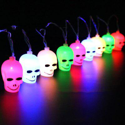 Halloween Skull LED String 16 Lamps Colorful Light 3m