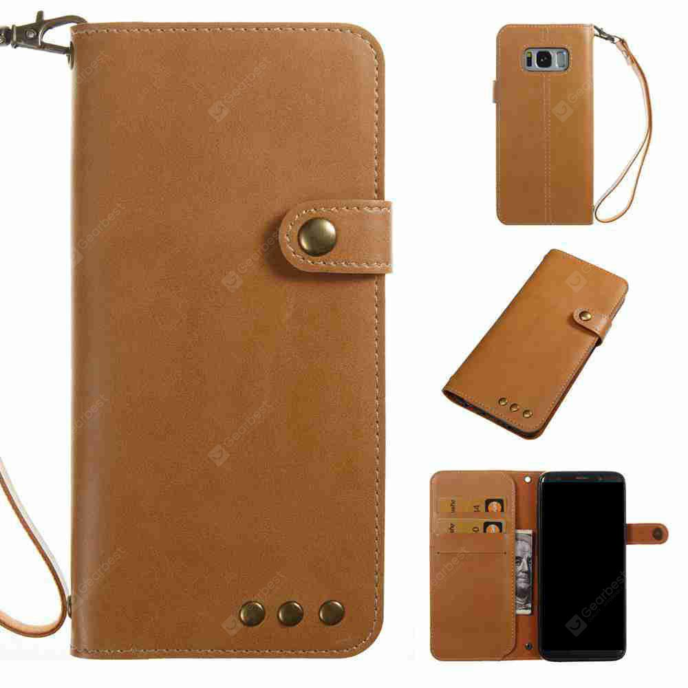 Crazy Horse Pattern Retro Leather Phone Case for Samsung Galaxy S8