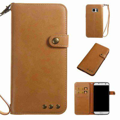 Crazy Horse Pattern Retro Leather Phone Case for Samsung Galaxy S7 Edge