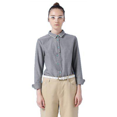 Toyouth Office Shirts Ladies OL Basic Top Blusas Blouse Shirt Professional Occupation