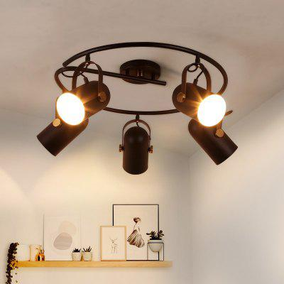 Lanshi D - 8145 Retro Metal Ceiling Light with Black Finish