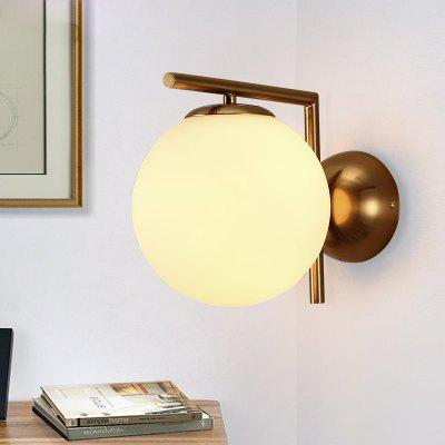 Lanshi D - 8150 Modern Simple Nordic Round Wall LampWall Lights<br>Lanshi D - 8150 Modern Simple Nordic Round Wall Lamp<br><br>Brand: Lanshi<br>Bulb Base: E27<br>Bulb Included: No<br>Certifications: CE,FCC<br>Decoration Material: Glass,Metal<br>Fixture Material: Glass,Metal<br>Light Direction: Ambient Light<br>Number of Bulbs: 1<br>Package Contents: 1 x Lamp Body, 1 x Installation Instruction<br>Package size (L x W x H): 35.00 x 35.00 x 25.00 cm / 13.78 x 13.78 x 9.84 inches<br>Package weight: 2.2000 kg<br>Power Supply: AC Charger<br>Product size (L x W x H): 31.00 x 31.00 x 21.00 cm / 12.2 x 12.2 x 8.27 inches<br>Product weight: 1.8000 kg<br>Production Mode: Self-produce<br>Selling Point: Eye Protection<br>Shade Material: Glass<br>Style: Modern/Contemporary<br>Suggested Room Size: 10 - 15 Square Meters<br>Type: Wall Sconces<br>Voltage: 220-240V<br>Wattage: 60W<br>Wattage per Bulb ( W ): 60