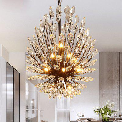 Buy BLACK Lanshi Country Style Crystal Chandelier Lamp for Living Room for $479.60 in GearBest store