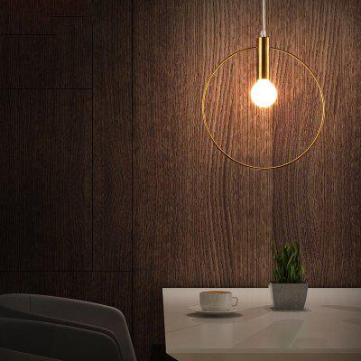 Lanshi Pendant Light Modern Simple Fashion 110 - 120VPendant Light<br>Lanshi Pendant Light Modern Simple Fashion 110 - 120V<br><br>Battery Included: No<br>Brand: Lanshi<br>Bulb Base: E12<br>Bulb Included: No<br>Certifications: CE,FCC<br>Chain / Cord Adjustable or Not: Chain / Cord Adjustable<br>Chain / Cord Length ( CM ): 120<br>Decoration Material: Metal<br>Dimmable: No<br>Features: Wrought Iron<br>Finish: Gold<br>Fixture Height ( CM ): 20<br>Fixture Length ( CM ): 20<br>Fixture Material: Metal<br>Fixture Width ( CM ): 4<br>Light Direction: Ambient Light<br>Number of Bulb: 1 Bulb<br>Number of Bulb Sockets: 1<br>Package Contents: 1 x Lamp Body, 1 x Installation Instruction<br>Package size (L x W x H): 24.00 x 24.00 x 10.00 cm / 9.45 x 9.45 x 3.94 inches<br>Package weight: 1.2000 kg<br>Product weight: 0.8000 kg<br>Remote Control Supported: No<br>Shade Material: No<br>Style: Artistic Style, Chic &amp; Modern<br>Suggested Room Size: 10 - 15?<br>Suggested Space Fit: Bedroom,Dining Room,Living Room<br>Type: Pendant Light<br>Voltage ( V ): 110-120<br>Wattage (W): 40W<br>Wattage per Bulb ( W ): 40