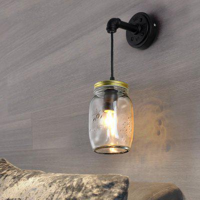 Lanshi D - 8204 Retro Wall Light Lamp Simple StyleWall Lights<br>Lanshi D - 8204 Retro Wall Light Lamp Simple Style<br><br>Brand: Lanshi<br>Bulb Base: E26<br>Bulb Included: No<br>Certifications: CE,FCC<br>Decoration Material: Glass,Metal<br>Finish: Black<br>Fixture Material: Glass,Metal<br>Light Direction: Ambient Light<br>Number of Bulbs: 1<br>Overall Depth ( CM ): 11<br>Overall Height ( CM ): 40<br>Overall Width ( CM ): 17<br>Package Contents: 1 x The Lamp Body, 1 x Installation Instruction<br>Package size (L x W x H): 24.00 x 20.00 x 15.00 cm / 9.45 x 7.87 x 5.91 inches<br>Package weight: 1.6000 kg<br>Power Supply: AC Power<br>Product weight: 1.2000 kg<br>Production Mode: Self-produce<br>Selling Point: Mini Style<br>Shade Material: Glass<br>Style: Rustic Lodge<br>Suggested Room Size: 10 - 15 Square Meters<br>Type: Wall Sconces<br>Voltage: 110V-120V<br>Wattage: 60W<br>Wattage per Bulb ( W ): 60