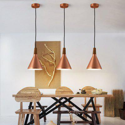 Lanshi Modern Copper Pendant Light E26 / E27 1PCPendant Light<br>Lanshi Modern Copper Pendant Light E26 / E27 1PC<br><br>Battery Included: No<br>Brand: Lanshi<br>Bulb Base: E26,E27<br>Bulb Included: No<br>Bulb Type: Incandescent<br>Certifications: CE,FCC<br>Chain / Cord Adjustable or Not: Chain / Cord Adjustable<br>Chain / Cord Length ( CM ): 100<br>Decoration Material: Metal,Wood / Bamboo<br>Dimmable: No<br>Features: Mini Style<br>Fixture Height ( CM ): 26<br>Fixture Length ( CM ): 18<br>Fixture Material: Metal,Wood / Bamboo<br>Fixture Width ( CM ): 18<br>Light Direction: Downlight<br>Number of Bulb: 1 Bulb<br>Number of Bulb Sockets: 1<br>Number of Tiers: Single Tier<br>Package Contents: 1 ? Pendant Light, 1 ? Installation Instruction<br>Package size (L x W x H): 30.00 x 22.00 x 22.00 cm / 11.81 x 8.66 x 8.66 inches<br>Package weight: 1.7000 kg<br>Product size (L x W x H): 18.00 x 18.00 x 26.00 cm / 7.09 x 7.09 x 10.24 inches<br>Product weight: 1.3000 kg<br>Remote Control Supported: No<br>Shade Material: Metal<br>Style: Artistic Style, Chic &amp; Modern<br>Suggested Room Size: 10 - 15?<br>Suggested Space Fit: Bedroom,Cafes,Dining Room,Kitchen,Living Room<br>Type: Pendant Light<br>Voltage ( V ): 110V - 220V,220V - 240V<br>Wattage per Bulb ( W ): 60