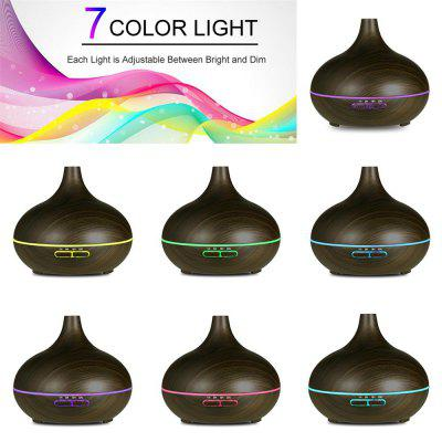 550ML Black Essential Oil Diffuser Stylish Aroma Humidifier 14 Color Shades Best Wood Grain Ultrasonic Whisper Quiet Cool Mist AromatherapyHome Gadgets<br>550ML Black Essential Oil Diffuser Stylish Aroma Humidifier 14 Color Shades Best Wood Grain Ultrasonic Whisper Quiet Cool Mist Aromatherapy<br><br>Available Color: Black<br>Materials: ABS, Plastic, PP<br>Package Contents: 1 x Humidifier, 1 x Adapter, 1 x English User Manual, 1 x Measuring Cup<br>Package Size(L x W x H): 17.00 x 17.00 x 15.00 cm / 6.69 x 6.69 x 5.91 inches<br>Package weight: 0.5600 kg