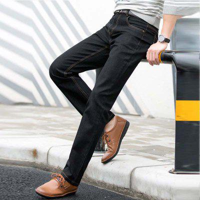 Baiyuan Trousers Slim Fit Mens Jeans BlackMens Pants<br>Baiyuan Trousers Slim Fit Mens Jeans Black<br><br>Closure Type: Zipper Fly<br>Color: Black<br>Fabric Type: Broadcloth<br>Fit Type: Straight<br>Material: 70.7% Cotton 28.4% Polyester  0.9% Spandex, Cotton, Polyester, Spandex<br>Package Contents: 1 x Jeans<br>Pant Length: Long Pants<br>Pant Style: Straight<br>Season: Spring Summer Autumn Winter<br>Size: 29 30 31 32 33 34 36 38 40<br>Style: Black Long Jeans<br>Waist Type: Mid<br>Wash: Light<br>Weight: 0.6000kg