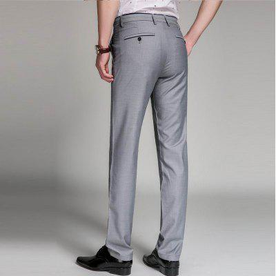 Baiyuan Trousers Business Casual Mens Slim Fit Suit Pants GreyMens Pants<br>Baiyuan Trousers Business Casual Mens Slim Fit Suit Pants Grey<br><br>Closure Type: Zipper Fly<br>Color: Gray<br>Elasticity: Micro-elastic<br>Embellishment: Button,Pockets,Zippers<br>Fabric Type: Broadcloth<br>Fit Type: Straight<br>Front Style: Pleated<br>Length: Normal<br>Material: Polyester, Cotton<br>Package Contents: 1 x Suit Pants<br>Package size (L x W x H): 30.00 x 20.00 x 5.00 cm / 11.81 x 7.87 x 1.97 inches<br>Package weight: 0.4000 kg<br>Pant Style: Straight<br>Pattern Type: Solid<br>Style: Formal<br>Thickness: Thin<br>Waist Type: Mid<br>Wash: Light<br>With Belt: No