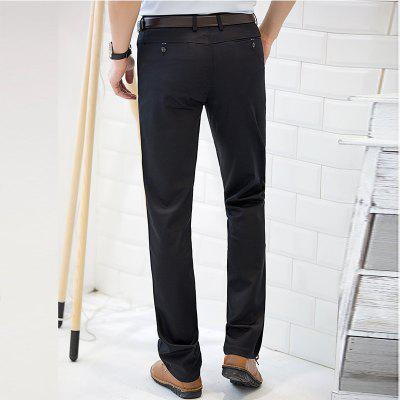 Baiyuan Trousers Casual Slim Fit for Mens Pants BlackMens Pants<br>Baiyuan Trousers Casual Slim Fit for Mens Pants Black<br><br>Closure Type: Zipper Fly<br>Color: Black<br>Elasticity: Micro-elastic<br>Embellishment: Button,Pockets,Zippers<br>Fabric Type: Twill<br>Fit Type: Skinny<br>Front Style: Pleated<br>Length: Normal<br>Material: Cotton, Spandex<br>Package Contents: 1 x Pants<br>Package size (L x W x H): 30.00 x 20.00 x 5.00 cm / 11.81 x 7.87 x 1.97 inches<br>Package weight: 0.6000 kg<br>Pant Style: Straight<br>Pattern Type: Solid<br>Style: Casual<br>Thickness: Standard<br>Waist Type: Mid<br>With Belt: No