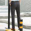 Baiyuan Trousers Casual Slim Fit Mens Pants Dark Grey - DARK GREY