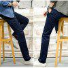 Baiyuan Trousers Casual Slim Fit Mens Pants Deep Blue - DEEP BLUE