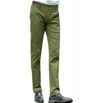 Baiyuan Trousers Casual Slim Fit Mens Pants Army Green