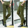Baiyuan Trousers Casual Slim Fit Mens Pants Army Green - ARMY GREEN