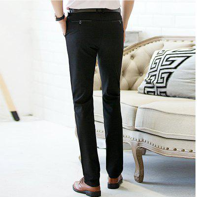 Baiyuan Trousers Autumn Casual Slim Fit for Mens Long Pants Black куртка antony morato mmco00480 fa600101 5037