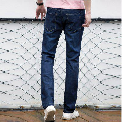 Baiyuan Trousers Casual Slim Fit Mens Jeans BlueMens Pants<br>Baiyuan Trousers Casual Slim Fit Mens Jeans Blue<br><br>Closure Type: Zipper Fly<br>Fabric Type: Twill<br>Fit Type: Regular<br>Material: Cotton, Microfiber, Polyester, Spandex<br>Package Contents: 1 x Jeans<br>Pant Length: Long Pants<br>Pant Style: Straight<br>Waist Type: Mid<br>Wash: Light<br>Weight: 0.6000kg