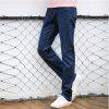 Baiyuan Trousers Casual Slim Fit Mens Jeans Blue - BLUEBELL