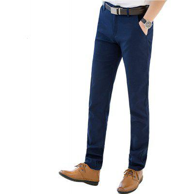 Baiyuan Trousers Autumn Business Casual Slim Fit Mens Suit Pants Blue