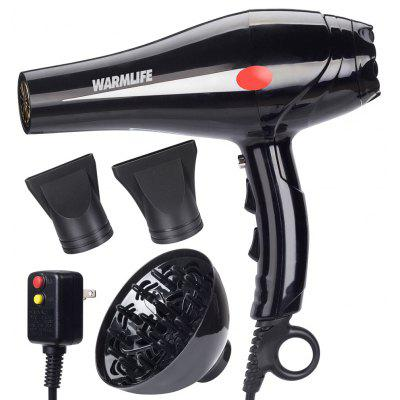 Buy BLACK Warmlife 1875W Hair Dryer Professional Salon Powerful Ionic Blow Dryer Motor Styling Tool 2 Speeds 3 Heat Settings for $47.51 in GearBest store