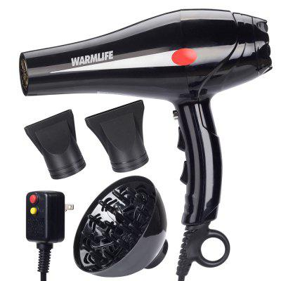 Warmlife 1875W Asciugacapelli Professionale Salon Potente  Ionic Blow Dryer Motore Styling Strumento - 2 Speeds 3 Heat Settings
